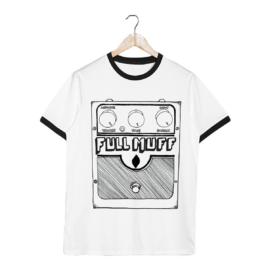 Full Muff Pedal – Unisex Ringer Tee – White