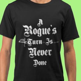 A Rogue's Turn – Unisex Black T Shirt