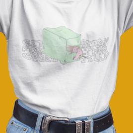 GELATINOUS CUBE UNICORN – Dungeons & Dragons T Shirt – White Unisex