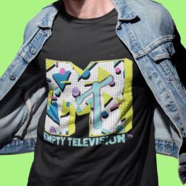 EMPTY TELEVISION – Black Unisex Crew Tee