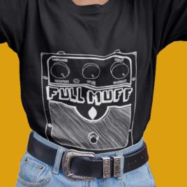 FULL MUFF FEMINIST TEE – Musician T Shirt – Black Unisex Crew Tee