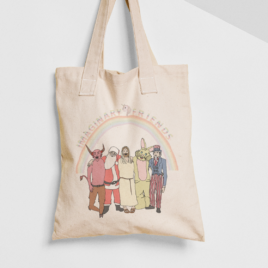 IMAGINARY FRIENDS Canvas Tote – Atheist Tote Bag – 6z 100% Cotton Bag