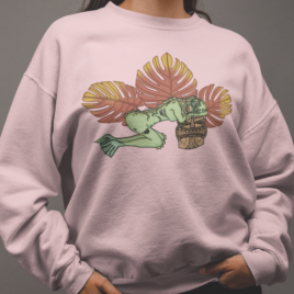 Tiki Graphic Sweatshirt | Creature from Lagoon | Summer sweatshirt | Gifts for her