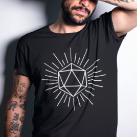Dungeon Dice Graphic Tee Unisex | Gift for him | Gamer gifts | D&D gifts