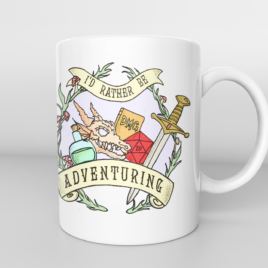 Dungeons and Dragons Mug – RATHER be ADVENTURING | Gaming Gifts | Gifts for him | RPG gifts