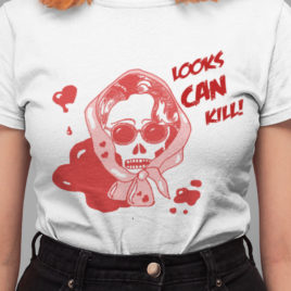 Looks Can Kill Punk Graphic Tee | Gifts for her | Unique gifts | T shirts